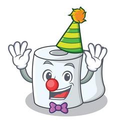 Clown tissue character cartoon style vector