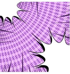 Comic dynamic purple concept vector