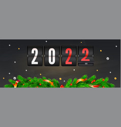 coming new year 2022 christmas banner vector image