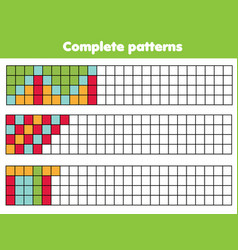Complete geometric patterns educational game for vector