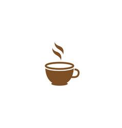 cup coffee warm cafe logo design icon vector image