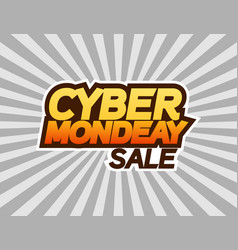 cyber monday sale banner or poster text cyber vector image