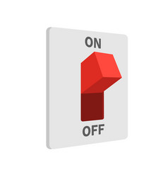 electric switch turned on flat style isolated on vector image