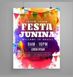 Festa junina invitation flyer template design vector