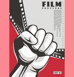 film festival art decor poster design vector image