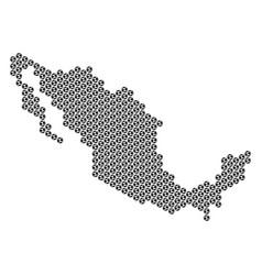 Football ball mexico map mosaic vector