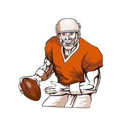 Football Player Pass vector