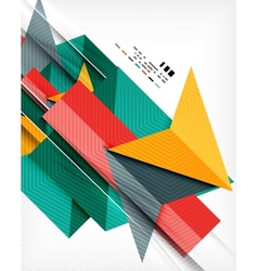 Geometric abstraction business poster vector