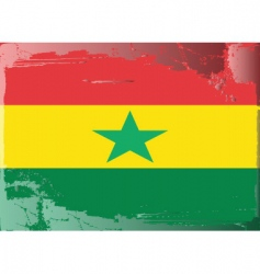 ghana national flag vector image