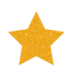 glitter golden star isolated on white backg vector image