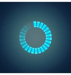 Glowing preloader vector