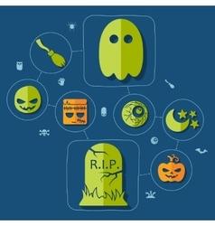 Halloween flat infographic vector image