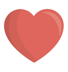 heart love card isolated icon vector image