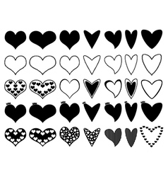 Hearts on white vector image