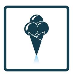Ice-cream cone icon vector