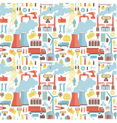 Industrial elements seamless pattern vector