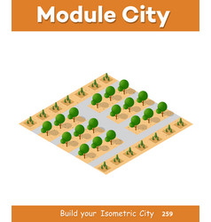 Isometric view of a farm vector