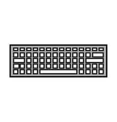 Keyboard keypad computer icon vector
