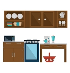 Kitchen and dishware vector