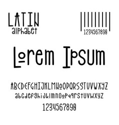latin alphabet for design posters prints vector image