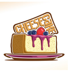 Logo for cheesecake vector