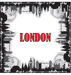 london skyline silhouette 7 vector image