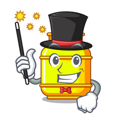 Magician gas tank cylinder isolated on mascot vector