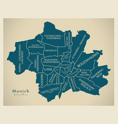 Modern city map - munich city of germany with vector