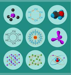 molecular structure medical evolution life vector image