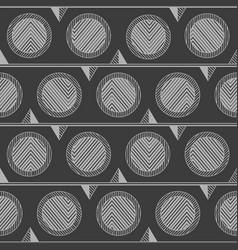 monochrome tribal circle pattern vector image
