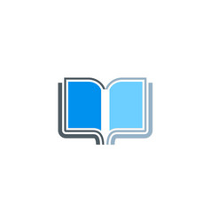 open book education knowledge icon logo vector image