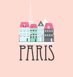 paris travel background vector image