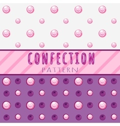 Pattern candies on a pink background vector