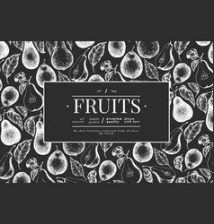 pear design template hand drawn garden fruit on vector image