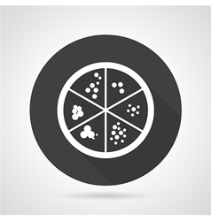 Petri dish black round icon vector image