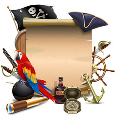 Pirate paper scroll vector