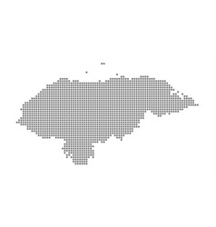 Pixel map of honduras dotted map of honduras vector