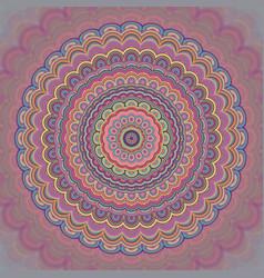 Psychedelic bohemian mandala ornament background vector