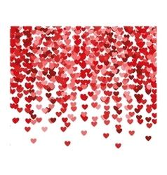 Re hearts explosion confetti vector