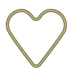 Rope frame heart vector