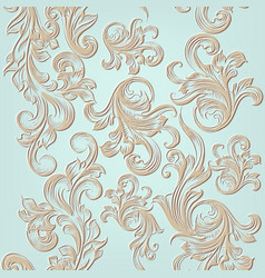 seamless pattern with engraved ornament vector image