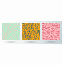 set abstract striped wavy or wavy lines vector image