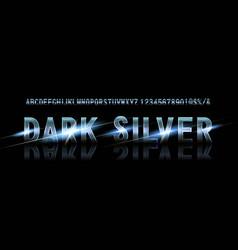 silver font alphabet vector image