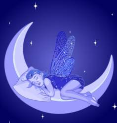 sleeping fairy vector image
