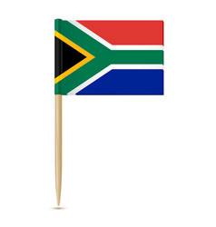 south africa flag toothpick on white background vector image