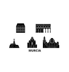 spain murcia flat travel skyline set spain vector image