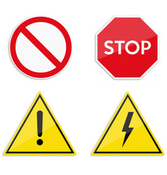 stop sign isolated on pure white vector image
