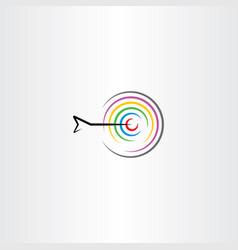 Target with arrow symbol logo sign vector