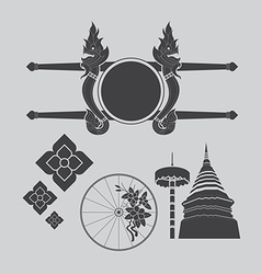 Thailand northern art design vector image