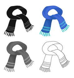 The blue scarfwinter warm wool scarf for the neck vector